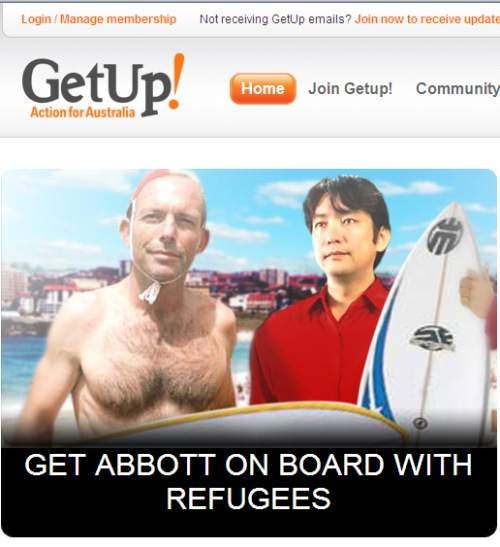 Tony Abbott GetUp Parliamentary Ball campaign