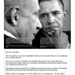 Retired US generals buy and advertisement in the Washington Post and tell Obama not to go to war with Iran